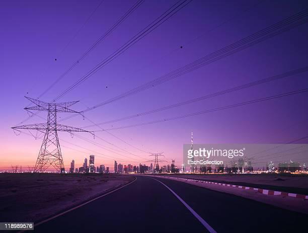 Power lines feeding electricity to Dubai
