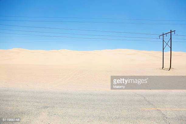 Power lines in the Desert, USA, Arizona near the Mexican Border