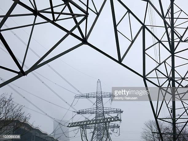 power lines - monty rakusen stock pictures, royalty-free photos & images