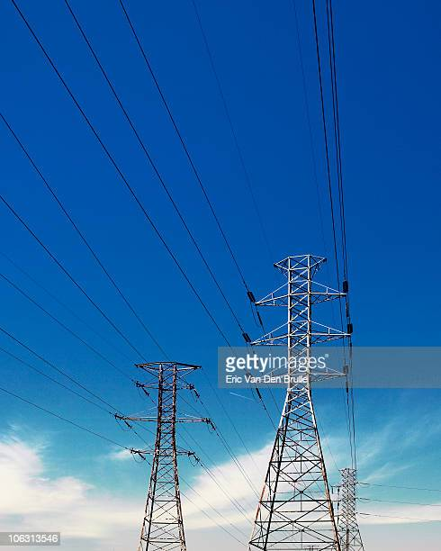 power lines - eric van den brulle stock pictures, royalty-free photos & images
