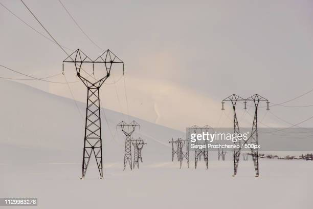 power lines - sergei stock pictures, royalty-free photos & images