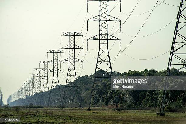 Power lines, tosohatchee wildlife management area