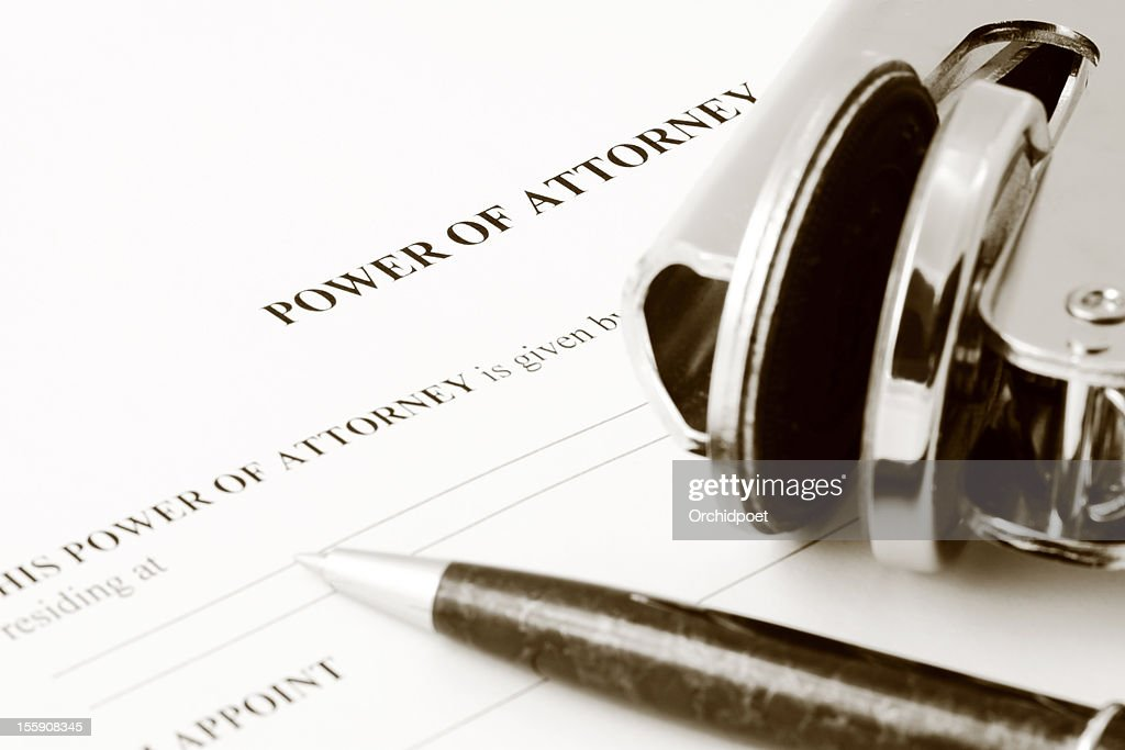 Power of Attorney : Stock Photo