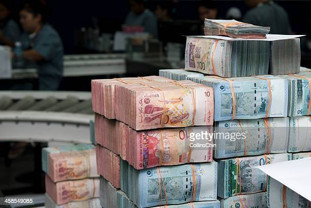 power of money - malaysian ringgit stock photos and pictures