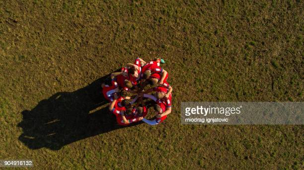 power of team - rugby stock pictures, royalty-free photos & images