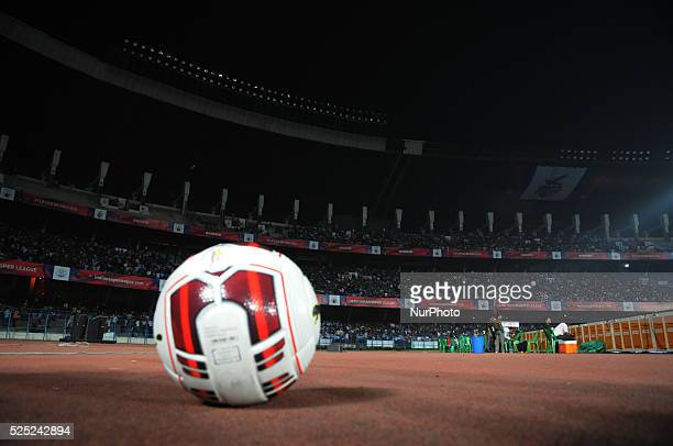 Power off during the Indian Super League Match 31 Atl��tico de Kolkata vs Chennaiyin FC in Salt Lake Stadium on November 142014 in KolkataIndia