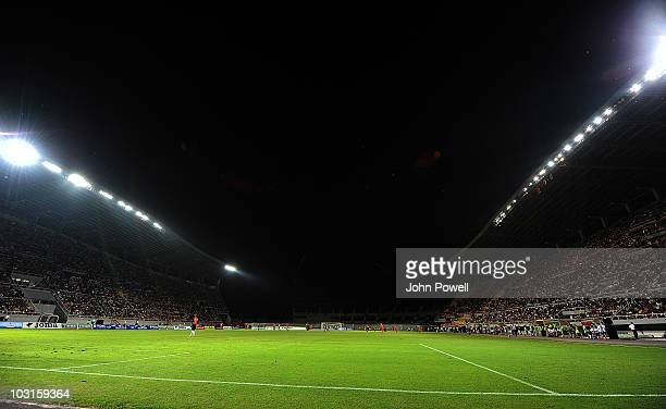 Power out at the National Arena Filip II stadium during the UEFA Europa League Qualifying Round match between FK Rabotnicki Skopje and Liverpool FC...