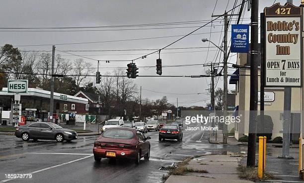 Power outage on Fort Salonga Road in Northport, N.Y. The day after Hurricane Sandy struck Long Island. 10-30-12