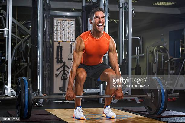 power! - snatch weightlifting stock photos and pictures