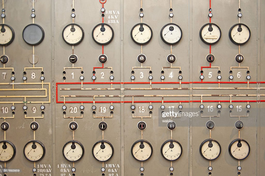 power plant console panel : Stock Photo