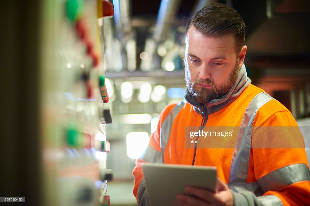 power plant engineer : Stock Photo