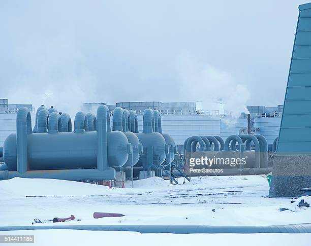 Power plant in arctic landscape