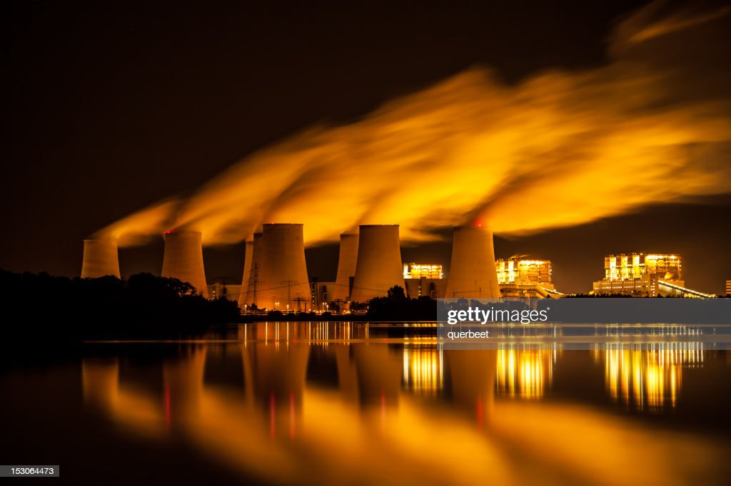 Power Plant - long exposure : Stock Photo