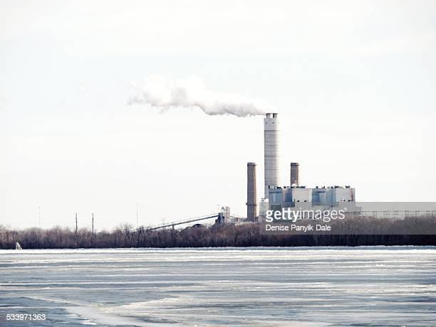 Power plant on Missouri side of Mississippi River near Alton Illinois