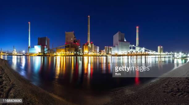 power plant (baden-württemberg, germany) - mannheim stock-fotos und bilder