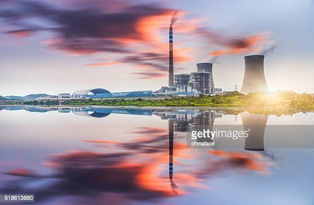 power plant - climate stock pictures, royalty-free photos & images