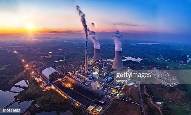 power plant - pollution stock pictures, royalty-free photos & images