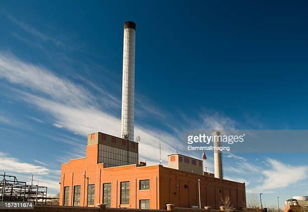 Power Plant with Streaky Sky