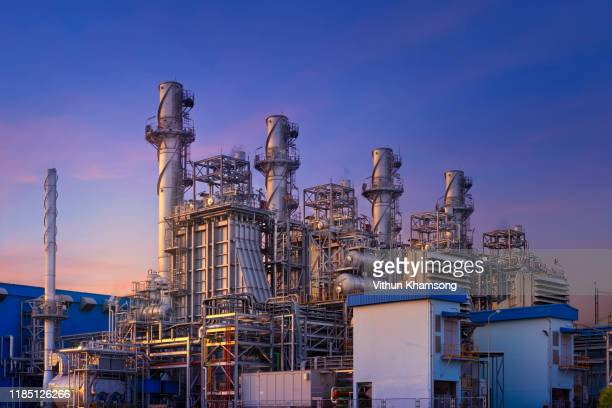 power plant,natural gas combined cycle power plant and turbine generator at industrial zone - power station stock pictures, royalty-free photos & images