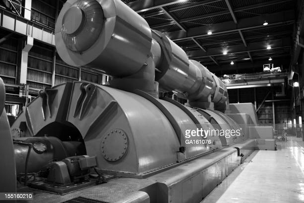 Power plant's turbine room