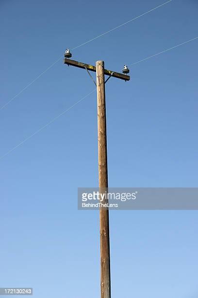 vara de potência - coluna de madeira - fotografias e filmes do acervo