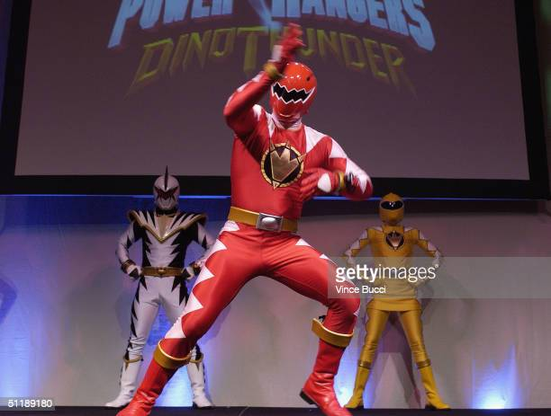 Power Rangers characters perform during the Hollywood Radio and Television Society's 10th Annual Kids Day 2004 show on August 18 2004 at Hollywood...