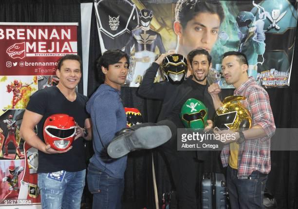 Power Rangers Steve Cardenas Brennan Mejia Azim Rizk and Mike Ginn attend day one of the 8th Annual Long Beach Comic Expo held at Long Beach...