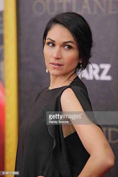 Power STARZ Actress Lela Loren who plays Angela Valdes attends the Season Two World Premiere of Outlander at the American Museum of Natural History...
