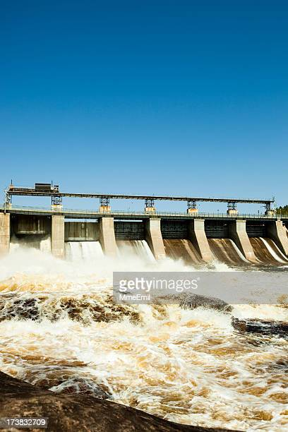 power station la gabelle - hydroelectric power station stock photos and pictures