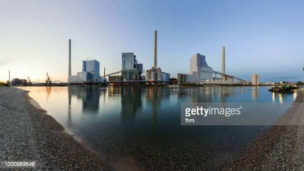 power station panorama (baden-württemberg, germany) - caratteristica costiera foto e immagini stock
