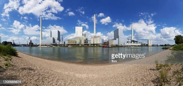 power station panorama (baden-württemberg, germany) - mannheim stock-fotos und bilder