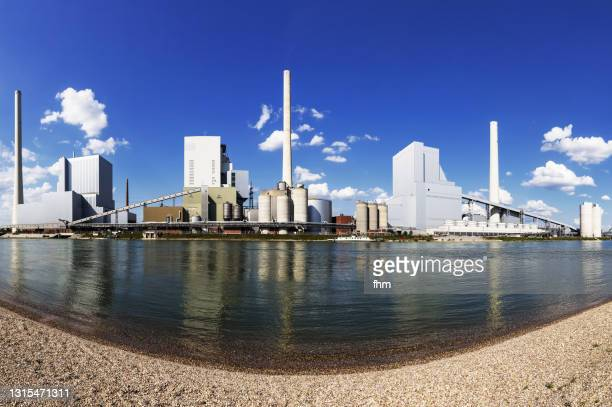power station panorama - mannheim stock pictures, royalty-free photos & images