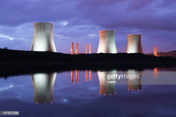 power station - cooling tower stock pictures, royalty-free photos & images