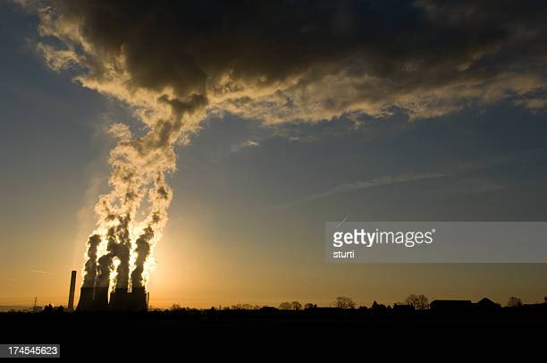 power station - carbon dioxide stock photos and pictures