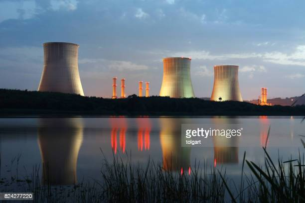 power station - nuclear power station stock pictures, royalty-free photos & images