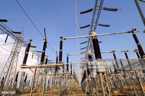 Power station switch yard, Adani Power, Mundra, Kutch, Gujarat, India