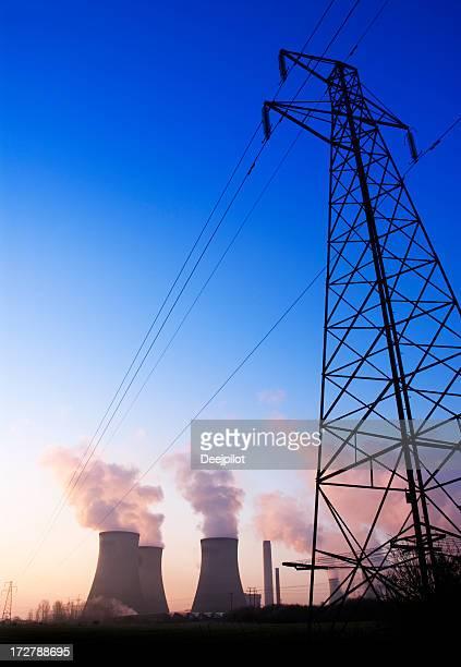 Power Station with Smoke Polution