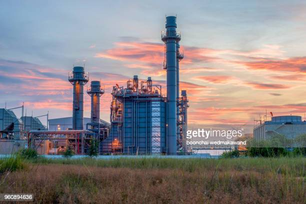power stations sunset - power station stock pictures, royalty-free photos & images