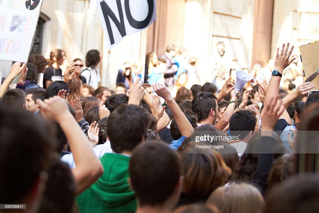 Power to the people! : Stock Photo