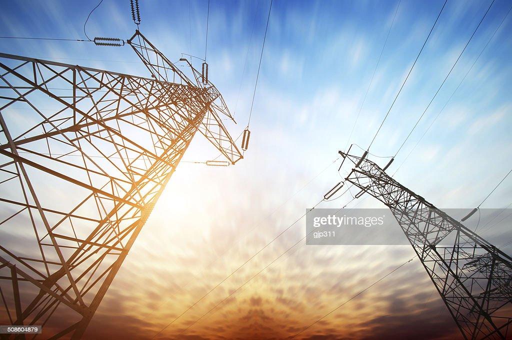 Torre de energia : Foto de stock