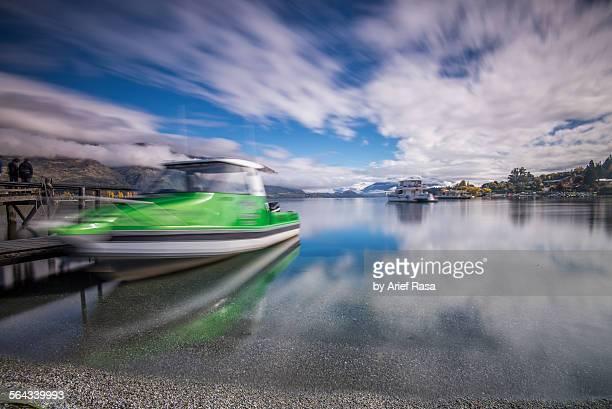 Powerboat Docked At Lake Wanaka