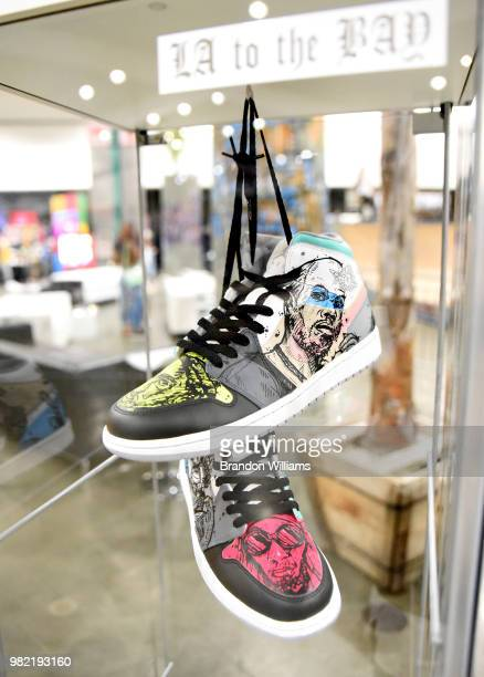 Powered by Black swag bag on display at Kicksperience at the 2018 BET Experience Fan Fest at Los Angeles Convention Center on June 23 2018 in Los...
