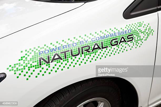 Powered By Compressed Natural Gas Sticker on Car Fender