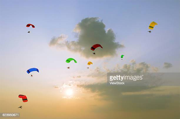Powered Paragliders in Clouds