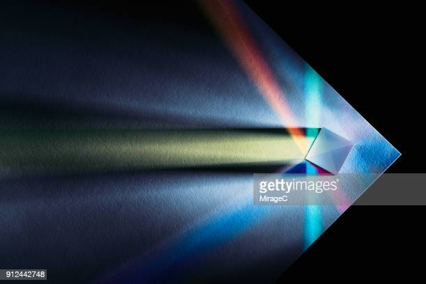 powerful and colorful light refraction - innovation stock-fotos und bilder