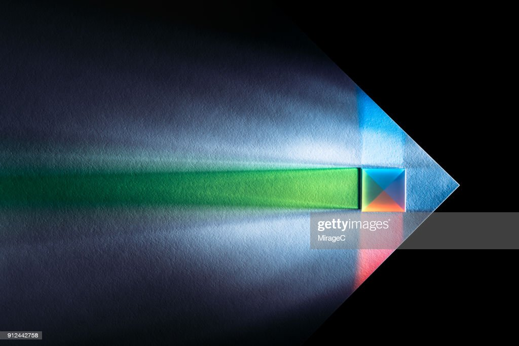 Powerful and Colorful Light Refraction : ストックフォト