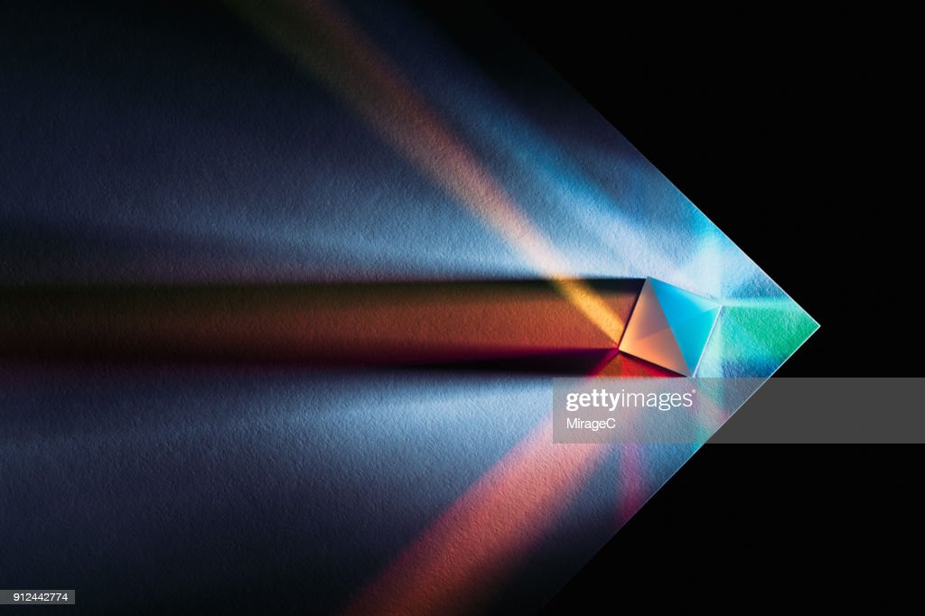 Powerful and Colorful Light Refraction : Stock Photo