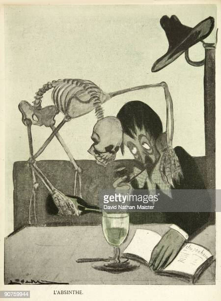 A powerful antiabsinthe caricature by the Portuguese artist Leal de Camara published in the satirical journal �L'Assiette au Beurre�