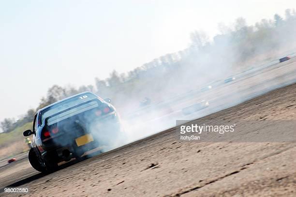 Powerful car drifting