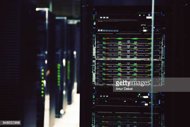 powerful supercomputer working. - network server stock pictures, royalty-free photos & images
